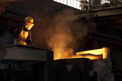 Trabalhador industrial Fotografia de Stock Royalty Free