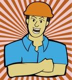 Trabalhador industrial ilustração stock