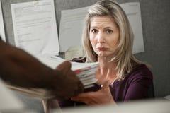 Trabalhador infeliz Imagem de Stock