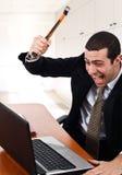 Trabalhador irritado Fotografia de Stock
