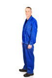Trabalhador maduro no uniforme Imagens de Stock Royalty Free