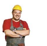 Trabalhador manual de sorriso Imagens de Stock