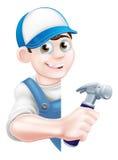 Trabalhador manual dos desenhos animados Imagem de Stock Royalty Free