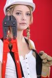 Trabalhador manual fêmea Imagens de Stock Royalty Free