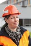 Trabalhador manual fêmea ao ar livre Imagens de Stock Royalty Free