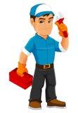 Trabalhador manual fresco Mascot Imagem de Stock Royalty Free