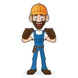 Trabalhador manual Giving Thumbs Up Foto de Stock