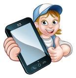 Trabalhador manual ou mecânico Phone Concept Imagens de Stock