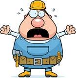 Trabalhador manual Scared ilustração stock