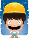 Trabalhador manual Smiling do menino dos desenhos animados ilustração royalty free