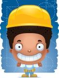 Trabalhador manual Smiling do menino dos desenhos animados ilustração do vetor