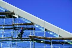 Trabalhador na construção fotografia de stock