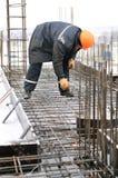 Trabalhador na construção de edifício Foto de Stock Royalty Free