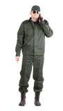 Trabalhador na veste e nas calças do inverno Imagem de Stock