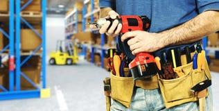 Trabalhador no armazém Imagem de Stock