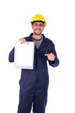 Trabalhador novo de sorriso Foto de Stock Royalty Free