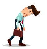 Trabalhador novo frustrante ilustração stock