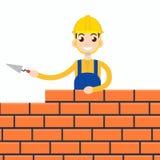 Trabalhador ou alvenaria ou P0?:canteiro Ilustração do vetor Fotografia de Stock Royalty Free