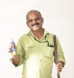 trabalhador qualificado de sorriso Imagem de Stock Royalty Free