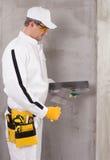 Trabalhador que prepara uma massa de vidraceiro Imagens de Stock