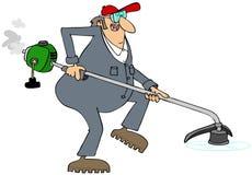 Trabalhador que usa um ajustador da corda Foto de Stock Royalty Free