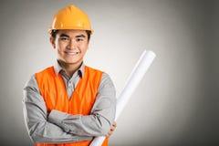 Trabalhador seguro do construtor Imagens de Stock