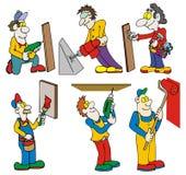 Trabalhadores com ferramentas Fotografia de Stock Royalty Free