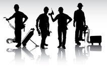 Trabalhadores com ferramentas Imagem de Stock