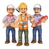 trabalhadores 3d Equipe do trabalho Imagens de Stock Royalty Free