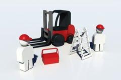 trabalhadores 3D mecânicos Fotografia de Stock