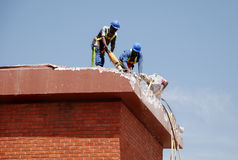 Trabalhadores da construção Foto de Stock
