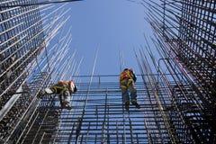 Trabalhadores da construção imagens de stock