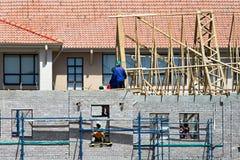 Trabalhadores da construção Foto de Stock Royalty Free