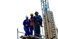 Trabalhadores da construção africanos Fotos de Stock Royalty Free