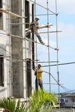 Trabalhadores da construção africanos foto de stock