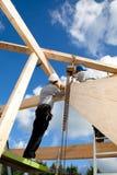 Trabalhadores da construção autênticos imagens de stock royalty free