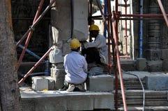 Trabalhadores da construção cambojanos Fotografia de Stock