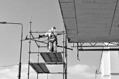 Trabalhadores da construção em um andaime Rebecca 36 Fotografia de Stock