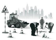 Trabalhadores da estrada ilustração stock