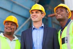 Trabalhadores da indústria pesada Imagens de Stock