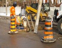 Trabalhadores da manutenção Imagem de Stock Royalty Free