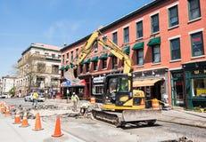 Trabalhadores de construção de estradas Imagens de Stock Royalty Free