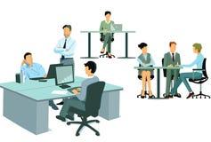 Trabalhadores de escritório modernos Fotografia de Stock Royalty Free