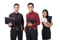 Trabalhadores de escritório seguros fotos de stock