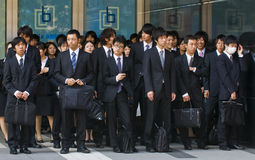 Trabalhadores de escritório japoneses Fotos de Stock Royalty Free