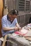 Trabalhadores de produção da tubulação Fotos de Stock