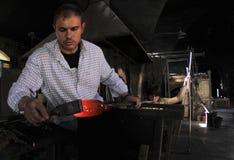Trabalhadores de vidro 018 do blowery Foto de Stock Royalty Free