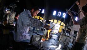 Trabalhadores de vidro 025 do blowery Fotografia de Stock Royalty Free