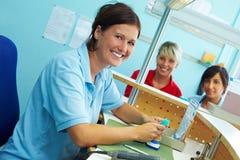 Trabalhadores dentais de sorriso imagens de stock royalty free