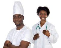 Trabalhadores do americano africano foto de stock royalty free